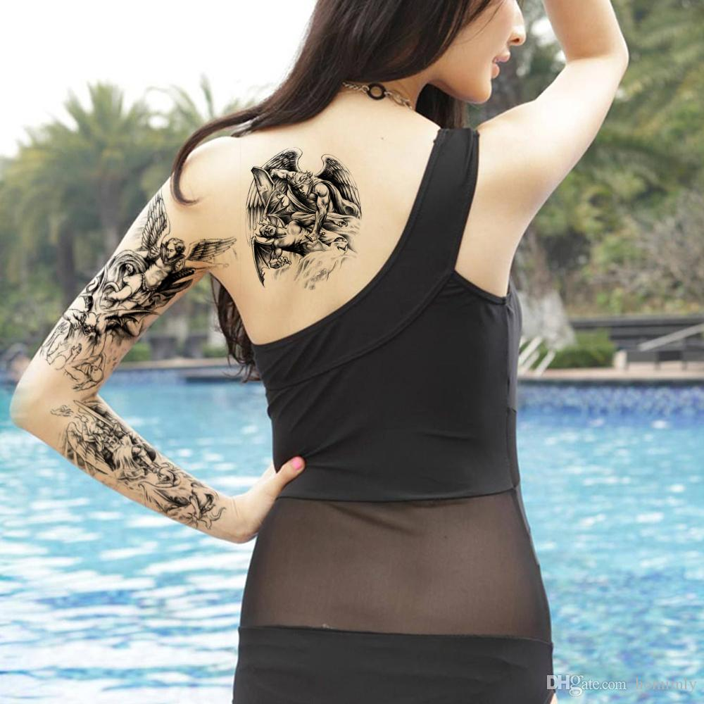 Teufel tattoo rücken engel 40 Best