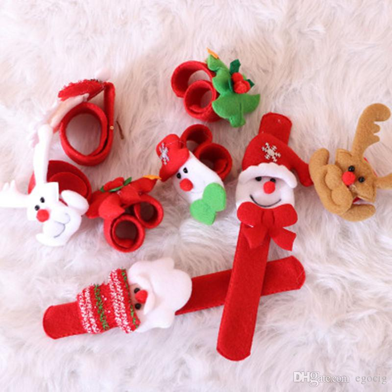 Broche De Noël Bracelets Cadeau De Noël Jouets De Bonhomme De Neige slap pat cercle Bracelet Bracelet Santa Claus Bracelet Décoration De Noël Ornements FREE DHL