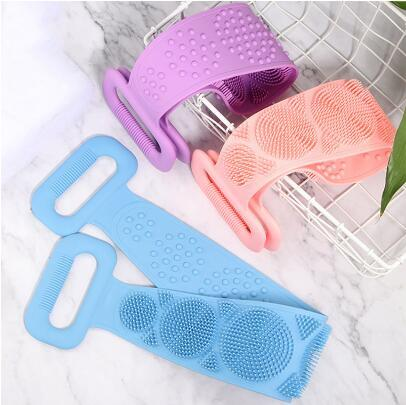 2020 Back Scrubber For Shower Double Sided Silicone Bath Body Brush Full  Coverage Shower Back Brush Soft Remove Horny Dirt Bath Towel Shower From  Crazyfairyland, $7.88 | DHgate.Com