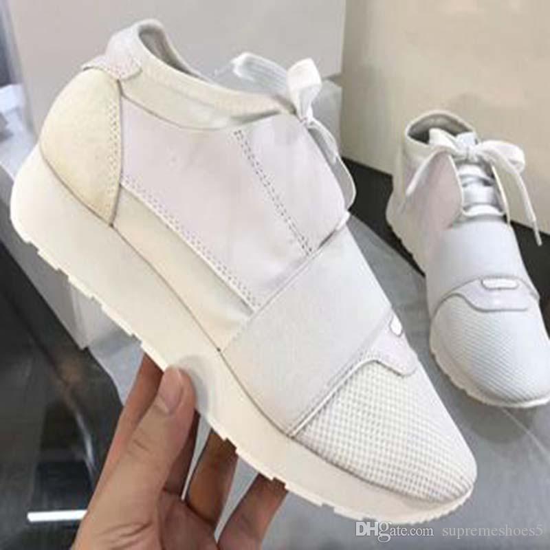 Primavera nuove donne di arrivo scarpe da tennis respirabile comodo Altezza crescente Shoes Mesh Uomini moda casual Vera Pelle Appartamenti G2S