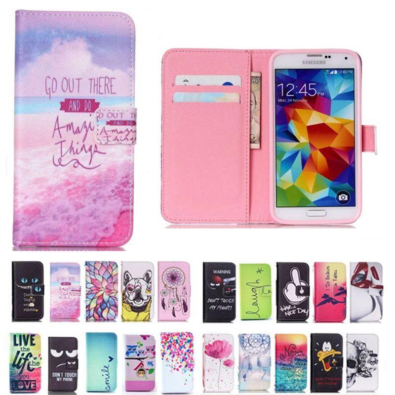 Pour Samsung Galaxy S5 Etui Portefeuille En Cuir Flip Cover Téléphone Cas Pour Samsung S5 Neo G903f I9600 Etui Flip Cover Housse En Silicone Proposé ...