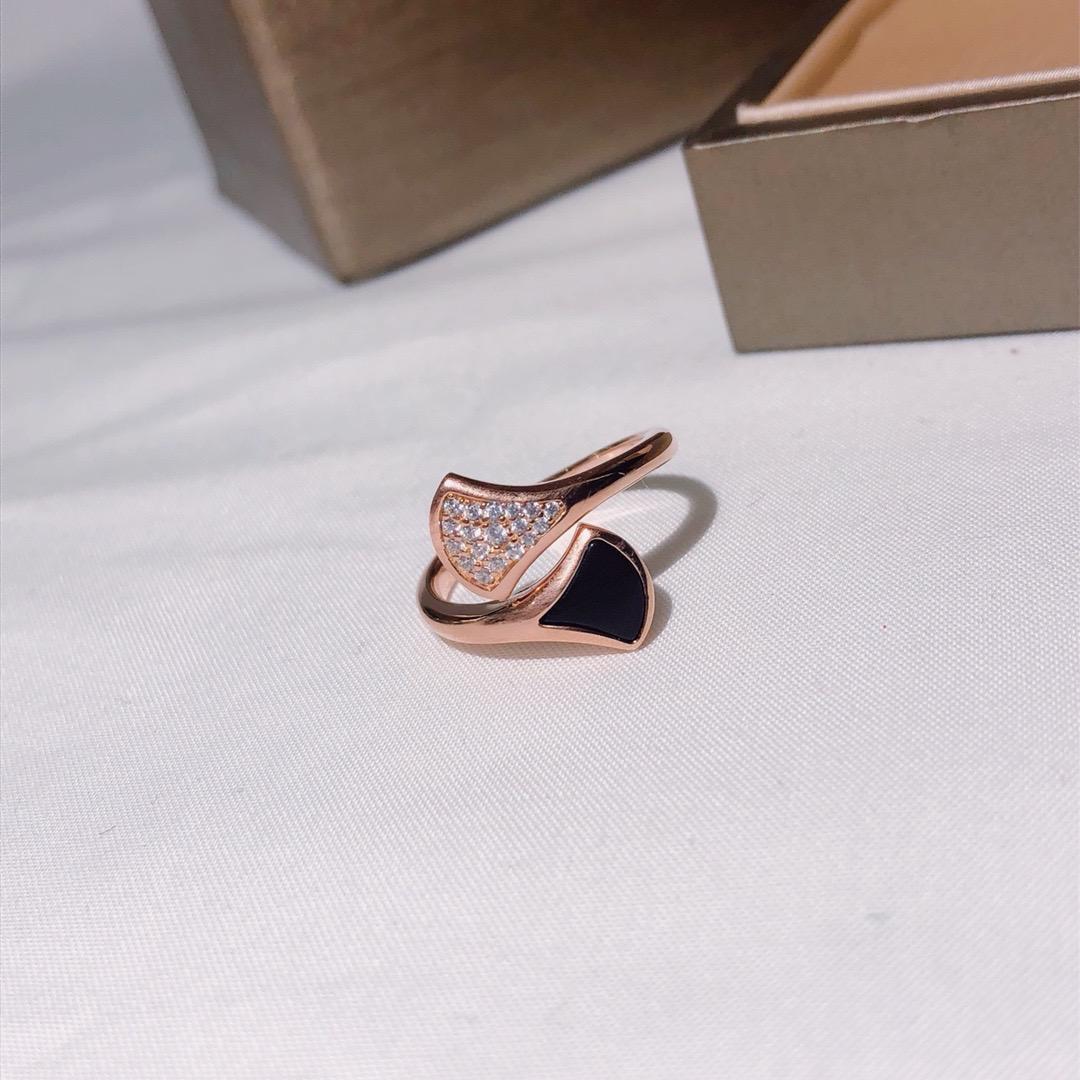 vendita calda S925 argento a doppia faccia anello di lusso dell'anello delle coperture diamante di qualità high-end bella nobile atmosfera di apertura one size