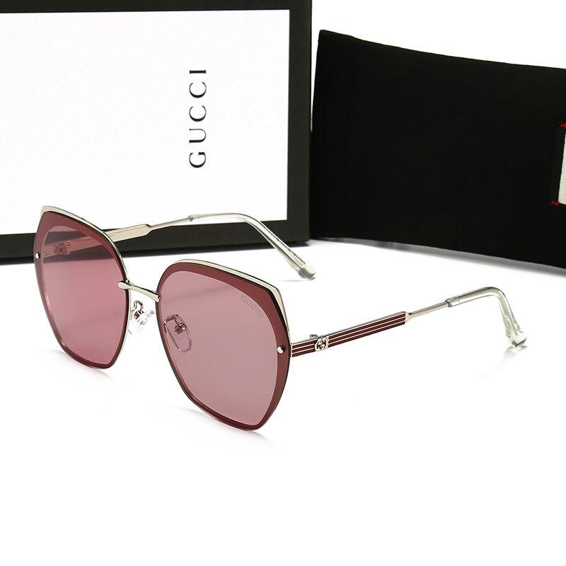 مربع العلامة التجارية على غرار مصمم الرجل النظارات الشمسية العلامة التجارية النظارات لا برغي إطار نظارات الشمس الفولاذ المقاوم للصدأ مع الحزمة الأصلية