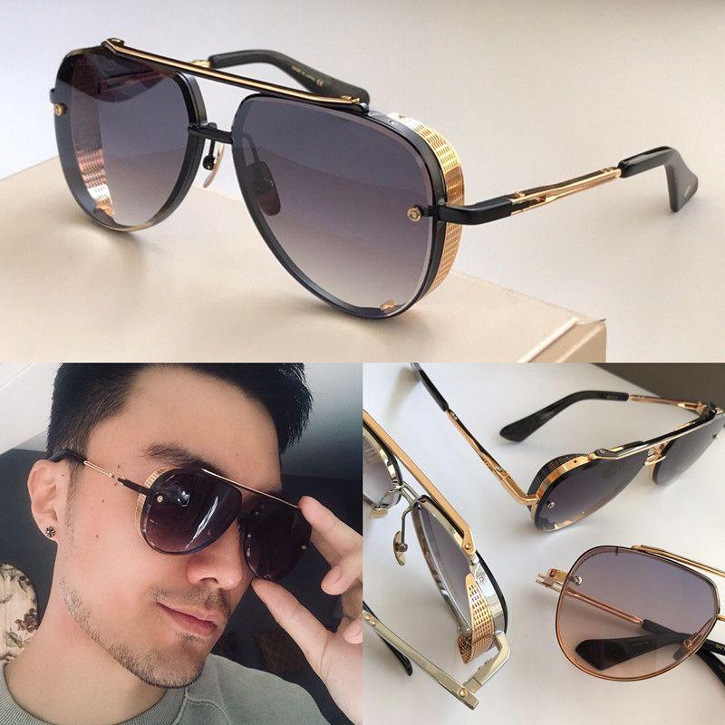 MACH الثامن LIMITED EDITION النظارات الشمسية الرجال مصمم معدن خمر النظارات الشمسية الاسلوب المناسب بدون إطار بيضاوي الأشعة فوق البنفسجية 400 عدسة مع الدعوى الأصلية