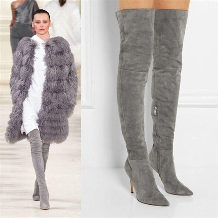 Classy Designer Women Thigh High Boots