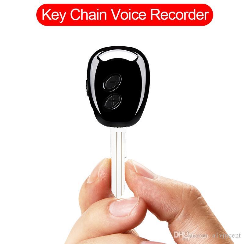 grabación 38hrs llavero Mini grabadora de voz digital de alta definición de audio dictáfono micro espía grabador de sonido activado por voz oculta