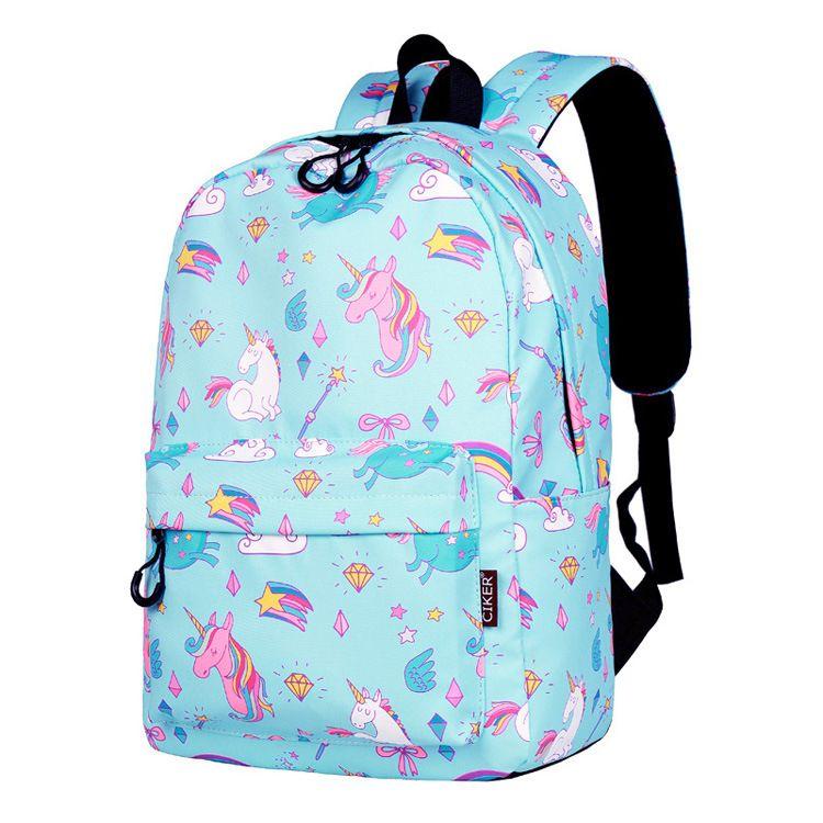Cute Kids Girls Unicorn Glitter Backpack Rucksack School Bag Colorful Fashion UK