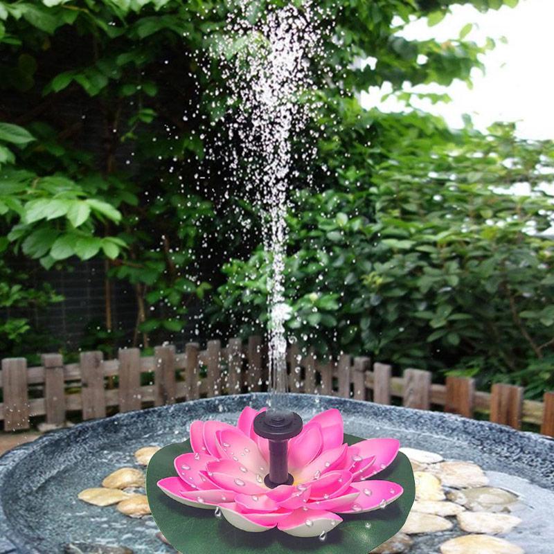 Bomba de água Piscina Acessórios Solar Lotus Fountain Lotus Flower Fountain Garden Pond Solar Courtyard