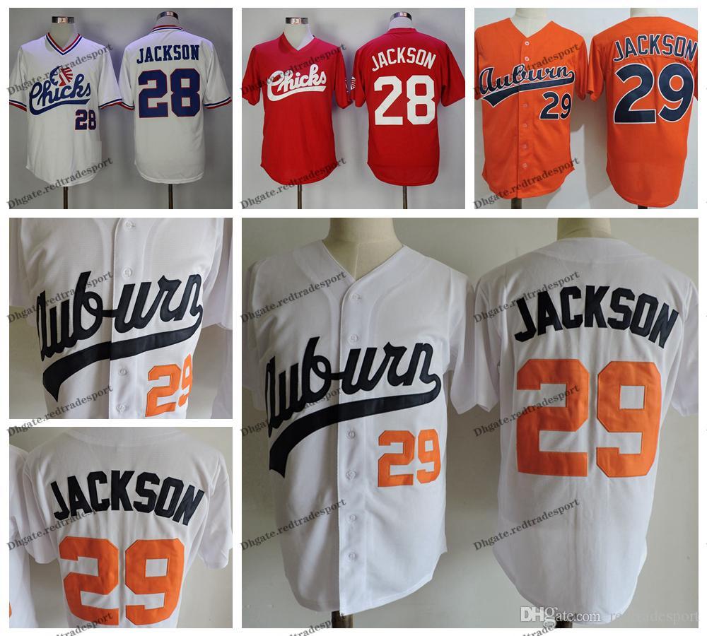 رجل خمر 29 بو جاكسون كلية البيسبول الفانيلة NCAA بو جاكسون برتقالي أبيض ميمفيس فراخ مخيط قمصان البيسبول