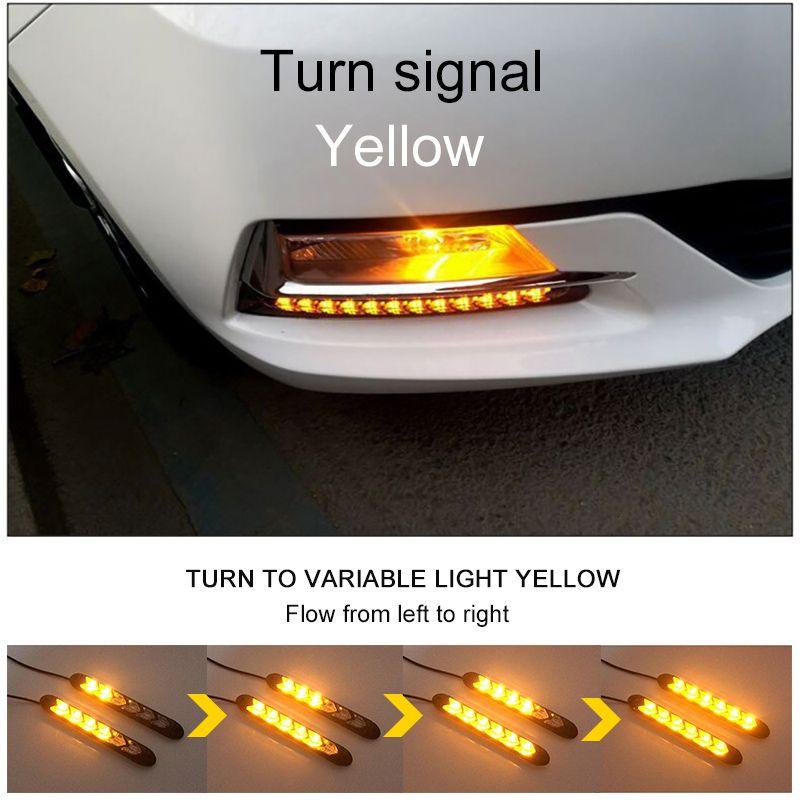 6//9//12 LED Car Turn Signal DRL Daytime Running Light Flow Daylight Waterproof UK