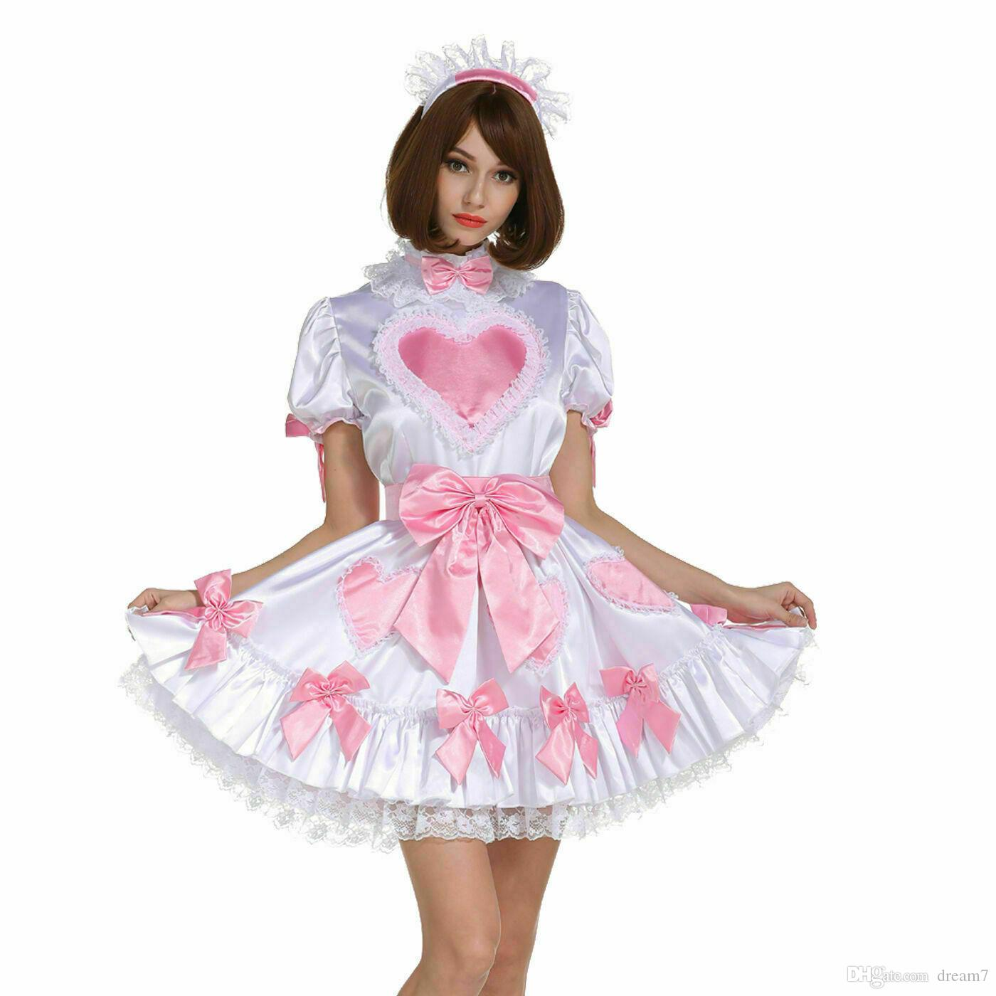 Sissy Girl Maid Lockable Amazing Heart Dream Dress Crossdressing Transgender
