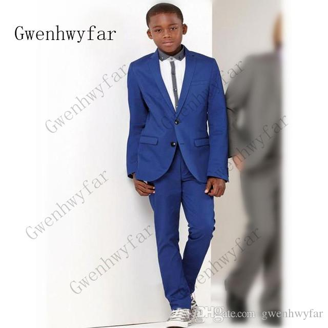 fa745fed044 Jacket Pants Set Boys Suits for Weddings Kids Prom Suit Formal Suits for  Boys Royal Blue ...