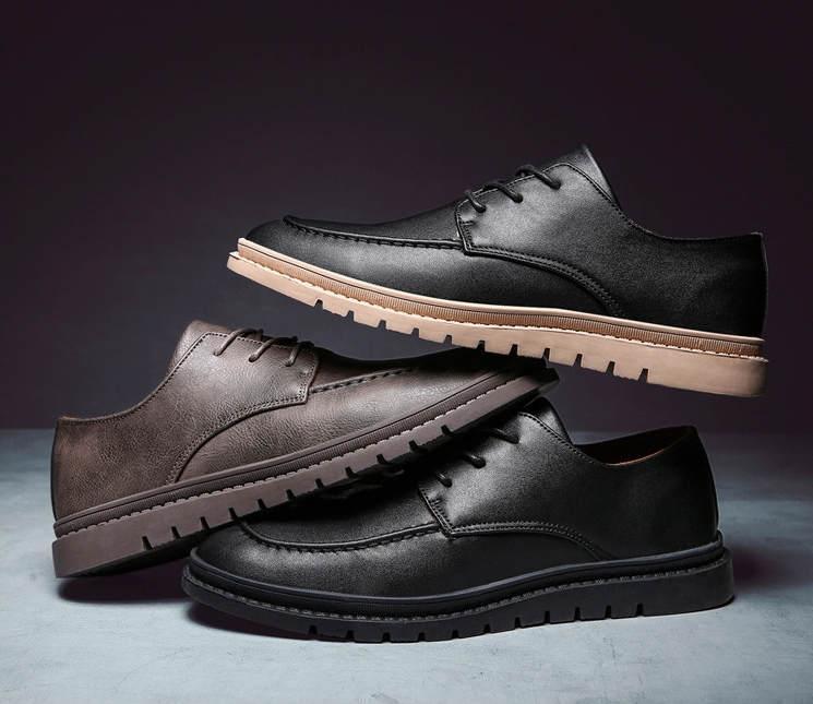 scarpe in pelle uomo classica 2020 scarpe casual nuova pelle a basso scarpe da uomo britannico di stile JD-C830 retrò