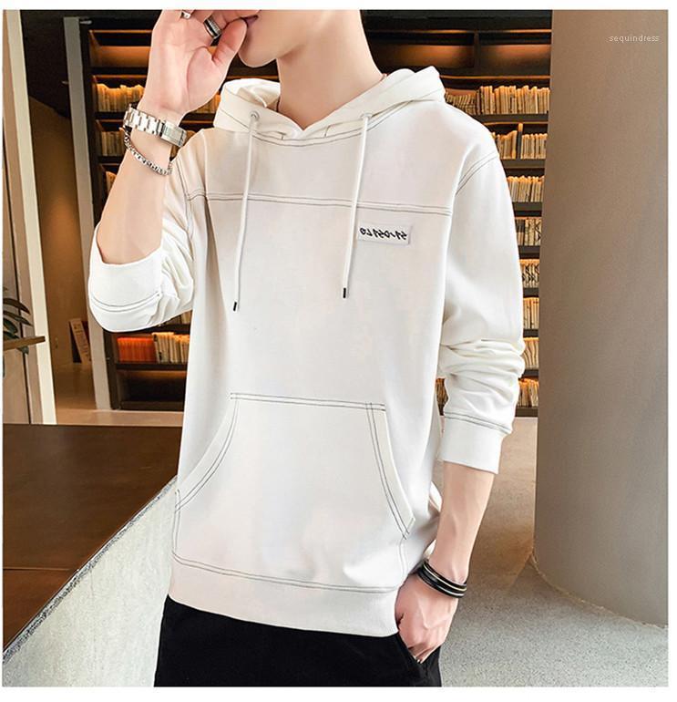 Casual Streetwear Autumn Spring Long Sleeve Solid Color Hoodies Men Basic Top Hooded Letter Printed Mens Designer Hoodies Pocket