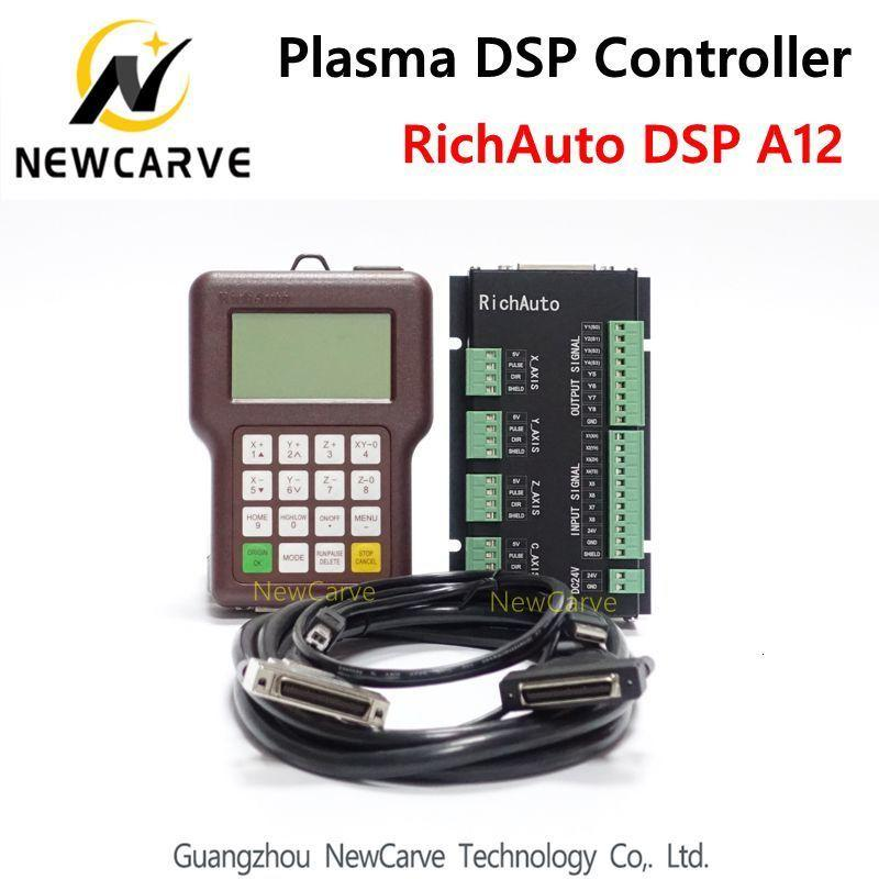 RichAuto A12 CNC Plasma contrôleur DSP A12S A12e USB Cnc système Version Française NewCarve Contrôleur de contrôle