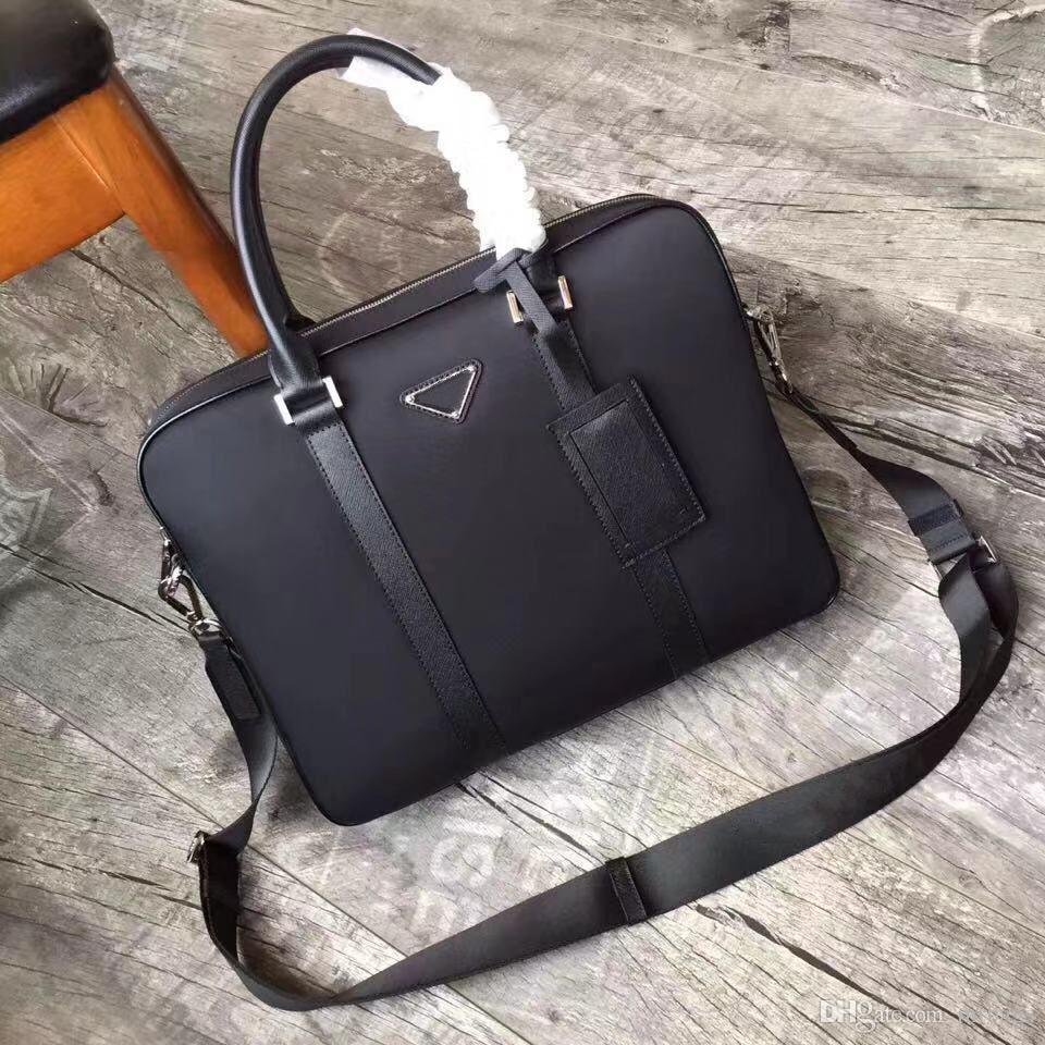 2VE871 haut de gamme des sacs à main classique des hommes personnalisés hommes designer designer italien porte-documents de style d'affaires décontractée sac fourre-tout en toile nylon