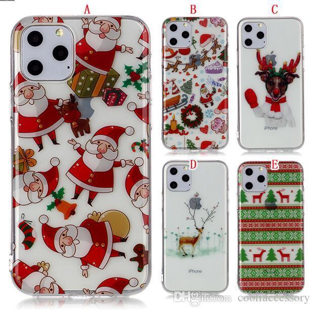 Coque TPU IMD Noël Pour Père Noël Pour Iphone 11 PRO MAX 6.5 5.8 6.1 XS MAX Housse De Protection Huawei P30 LITE Xiaomi Redmi 6 PRO NOTE 7 Proposé ...