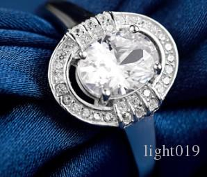 웨딩 보석 여자 925 스털링 실버 여자 결혼식을위한 조절 다이아몬드 반지 제안 크리스마스 축제 생일 선물