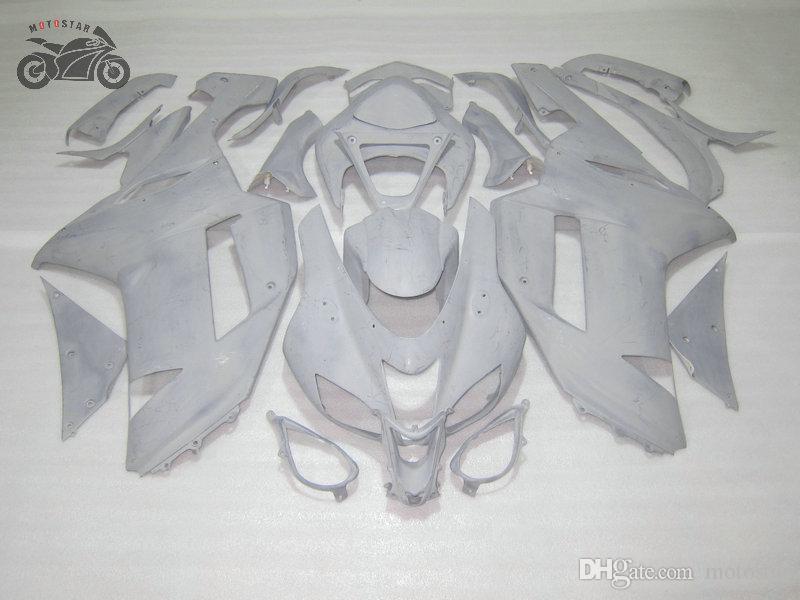 UNPAINTED MOTORCYCLE FAININGS Bodykit för Kawasaki Ninja 2007 2008 ZX6R ZX636 07 08 ZX 6R Anpassa dina egna Fairings Set
