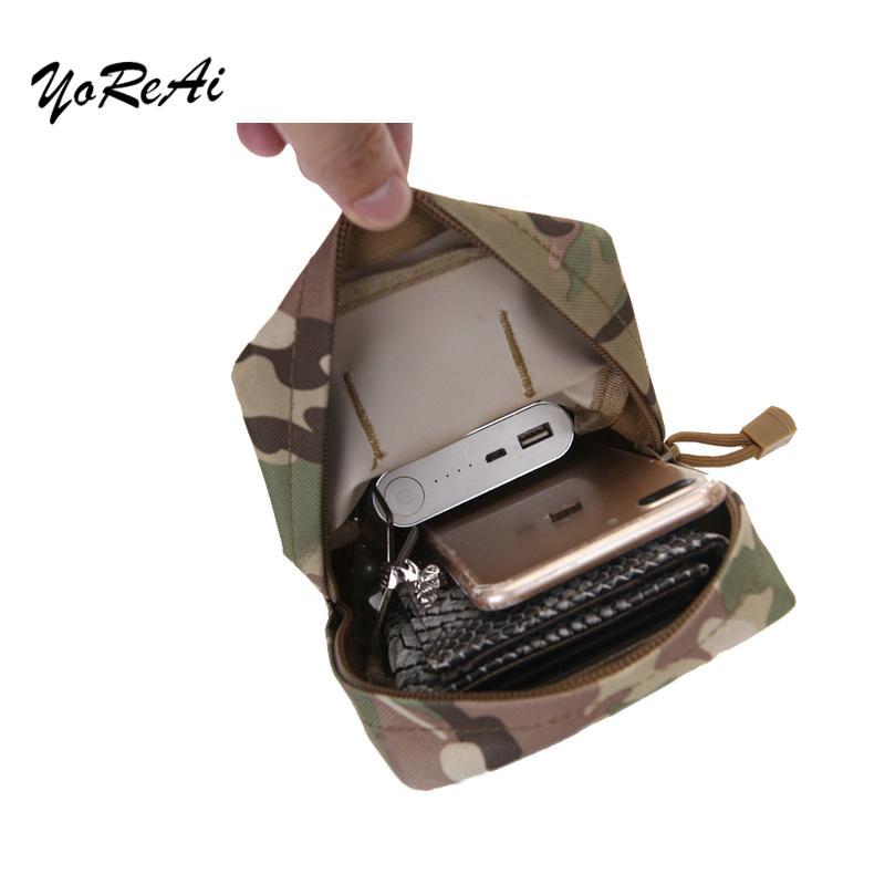 Sac tactique Molle Pochette utilitaire Pochette pour ceinture extérieure Chasse Ceinture Sac d'accessoires Packs Paquet Purse Portable