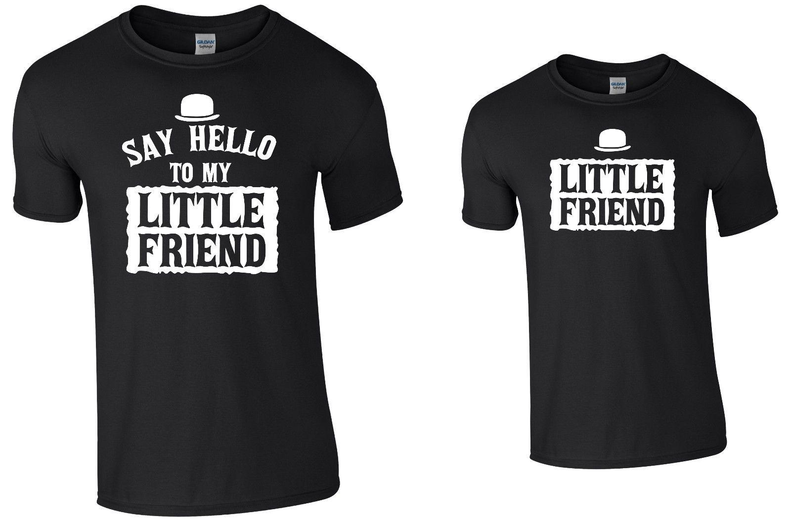 Say Hello To My Little Friend Tee Set Adult Childrens Tee T-Shirt