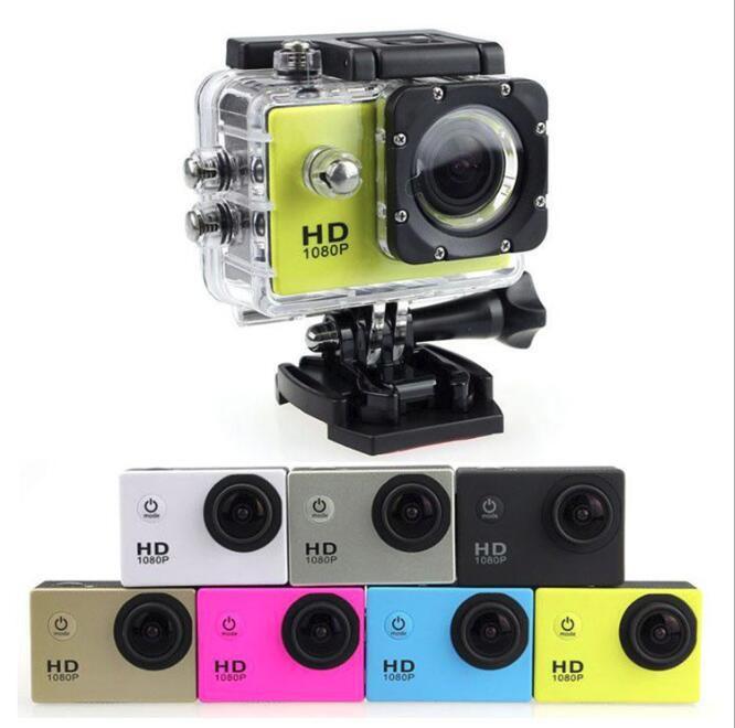 En ucuz SJ4000 A9 Stil için Kopyala 2 inç LCD Ekran Mini Spor Kamera 1080 P Full HD Eylem Kamera 30 M Su Geçirmez Kameralar DV Araba DVR