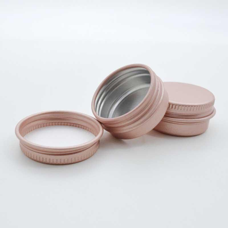 10g Rose Gold Empty Aluminium Cosmetic Containers Pot Lip Balm Jar Tin For Cream Ointment Hand Cream Hair wax Packaging Box Custom logo