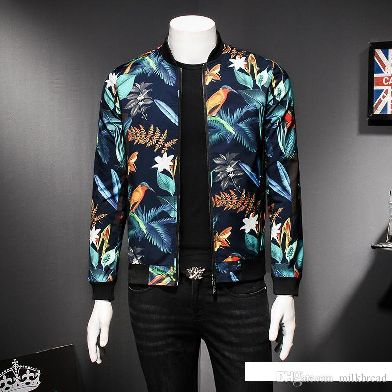 Mens Pattern Jacket Floral Print luxury Male Jacket Vintage Classic Fashion Designer Bomber Jackets Men Party Club Outfit Men o
