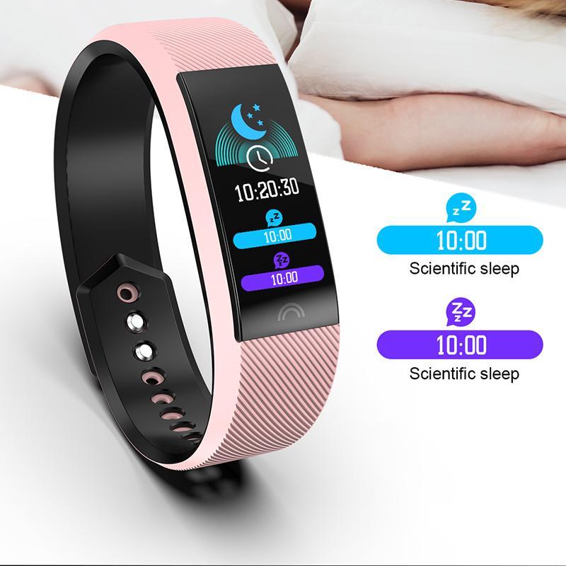 Winsun 2020 Nuovo IP68 impermeabile di sport intelligente della vigilanza degli uomini delle donne di sport del pedometro di pressione sanguigna di ossigeno monitoraggio Smartwatch + Box