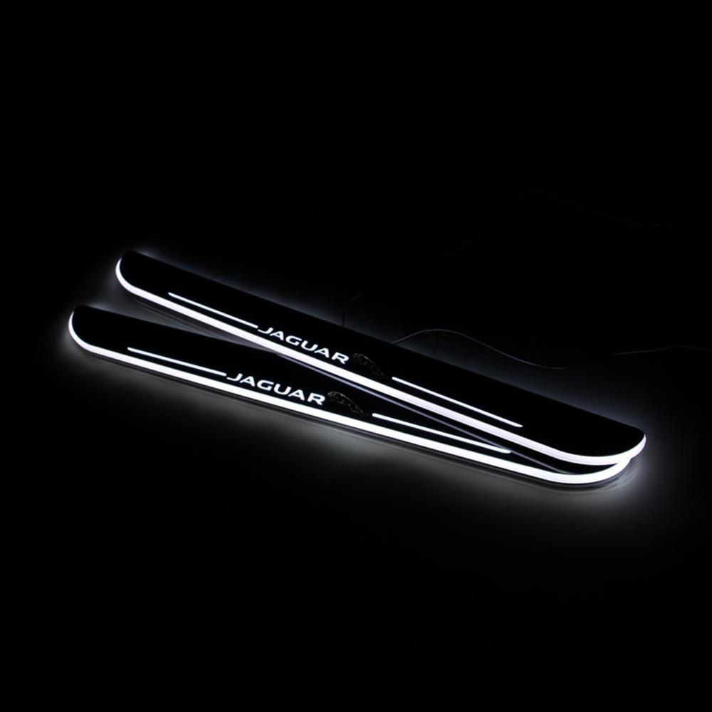 Moving LED Welcome Pedal Car Scuff Plate Pedal Door Sill Pathway Light For Jaguar XF 2015 2016 2017 2018