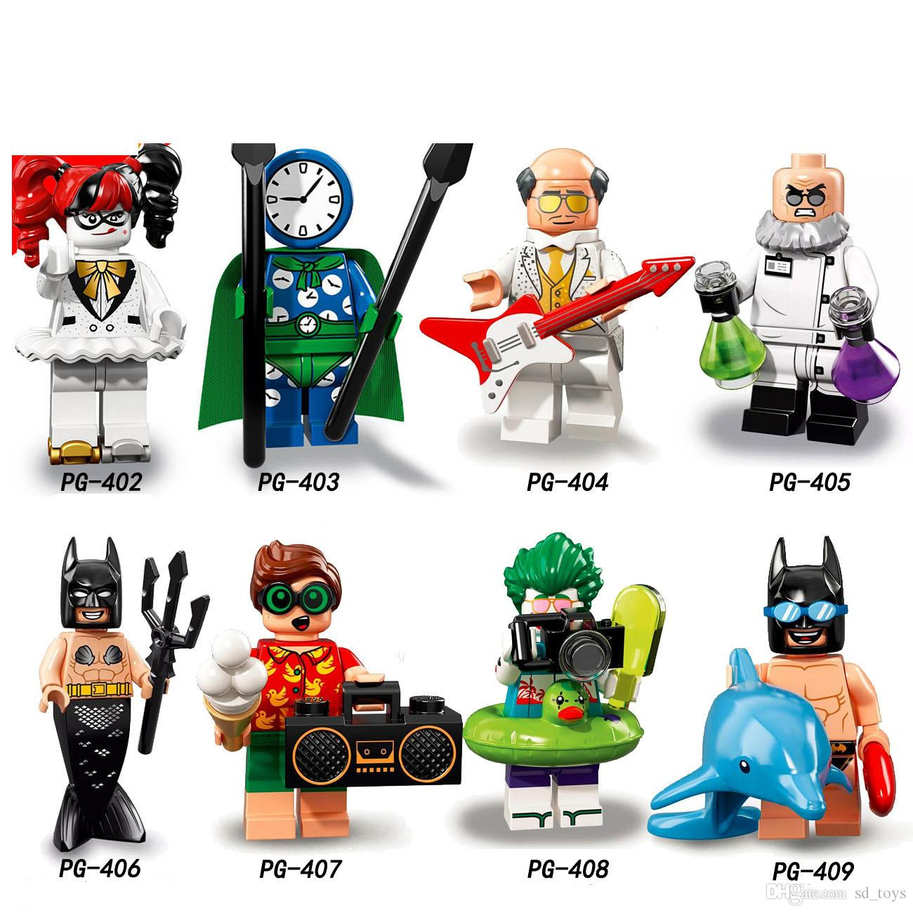 Super Heroes Harley Quinn Batman sirène Hugo étrange Robin Clock Roi Joker Jouets pour enfants PG8106