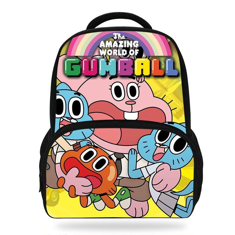 Новый мультфильм Удивительный Мир Gumball печати Рюкзак Симпатичные Pattern Детские книги Сумки девочек Школьные рюкзаки Детский сад мешок мальчиков