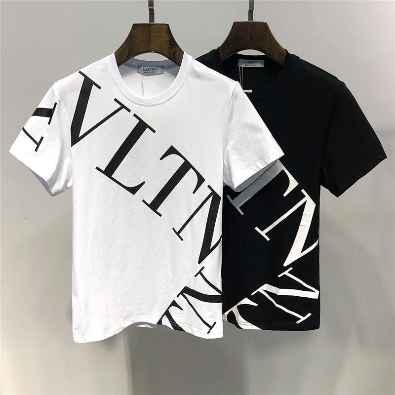2019 Yaz Yeni Varış En Kaliteli Valen Tasarımcı Giyim erkek kadın T-Shirt Baskı Tees M-3XL 6407