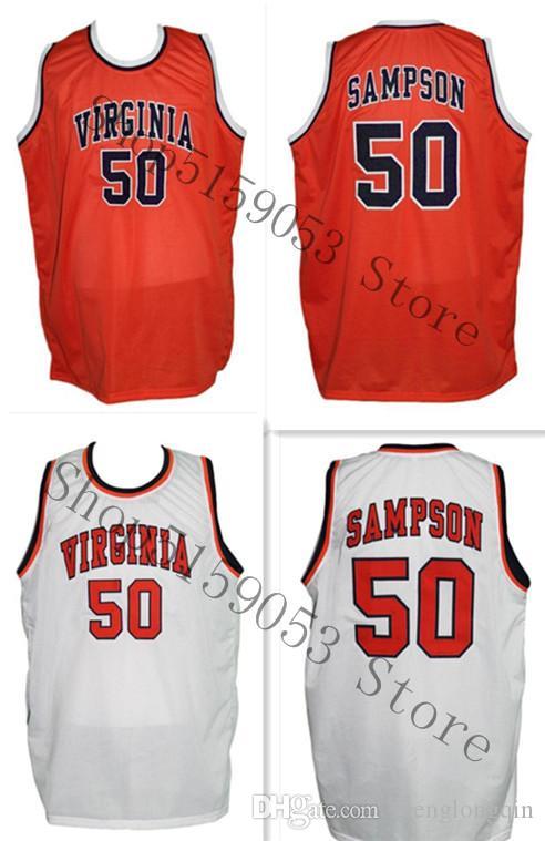 Ralph Sampson 50 Benutzerdefinierte College Basketball Jersey Stickerei genähtes Fertigen Sie jede mögliche Nummer und Name Trikots