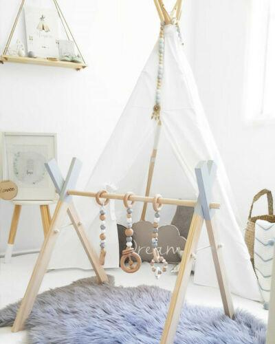 Baby Play Stand Nursery Hanging Fun Wooden Toys Mobile NO Wood Rack Activity Gym