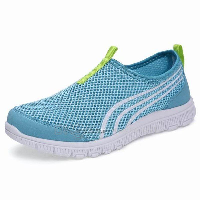 Горячая продажа Мода Мужская обувь Mesh дышащие кроссовки Walking Мужчины Обувь Новая Комфортная легкие кроссовки D-200301192