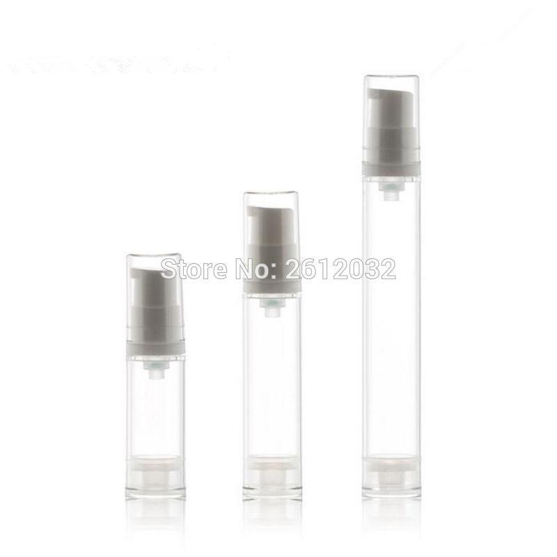 5 мл 10 мл 15 мл Лосьон для бутылки Пример Контейнер для безвоздушного насоса бутылки глаз крем Tube Clear Эфирное масло Вакуум крем для глаз бутылки