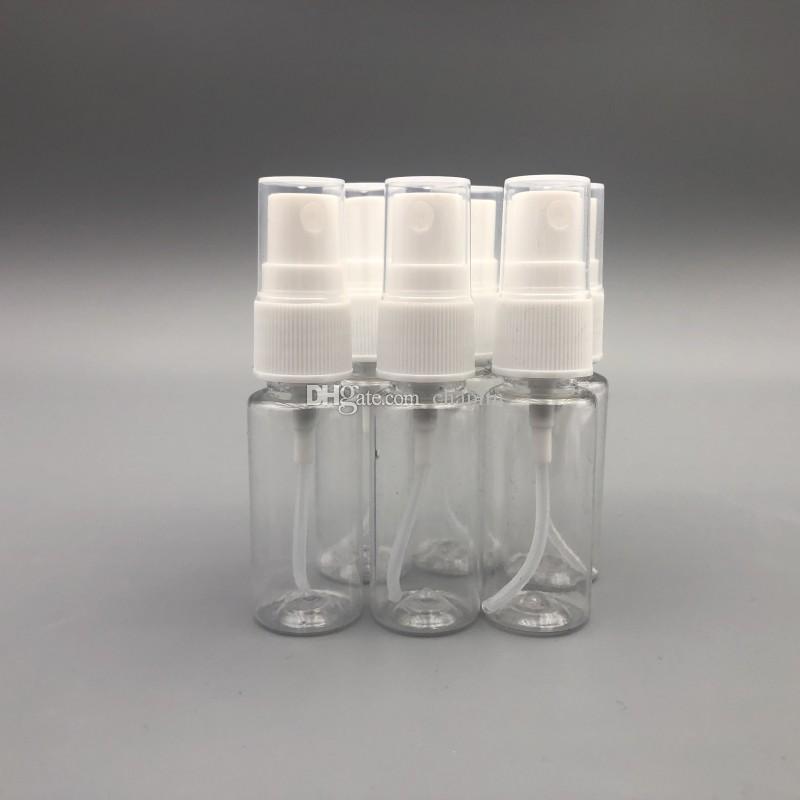 Vide 20 ml PET Atomiseur(0.66 oz, moins que 1 oz) En Plastique Transparent Fine Brume Vaporisateur pour le nettoyage, voyage, huiles essentielles, parfum