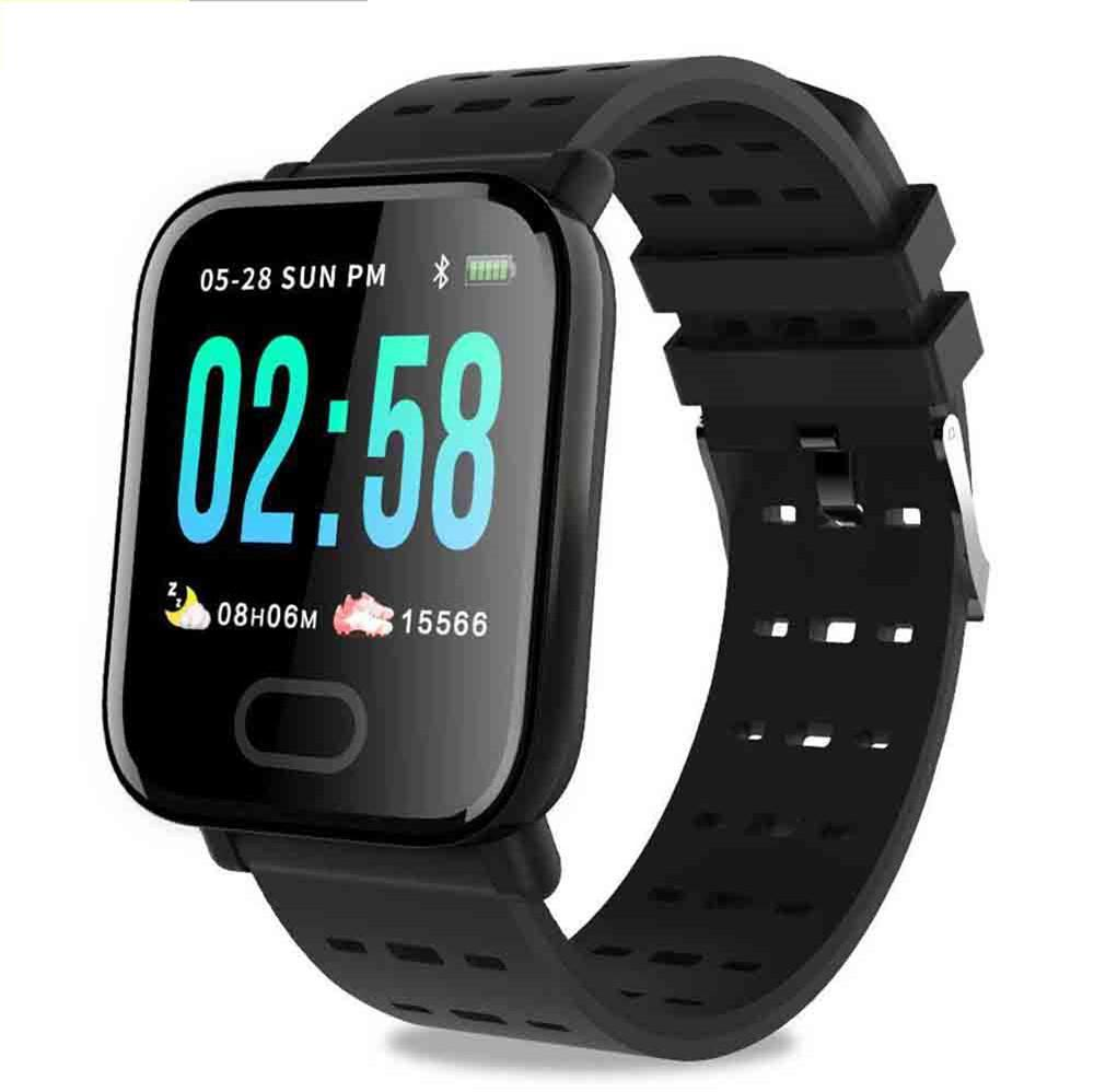Smart Bracelet Wristband Watch A6 1.3-inch Heart Rate Blood Pressure Sleep Monitoring Sports Pedometer Smart Watch For Huawei Samsung Iphone