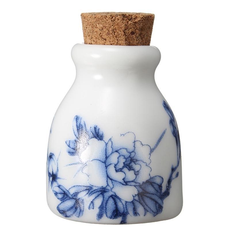 Peony / Elster Mini Keramik Glas Dappen Dish Bowl nachfüllbare Flaschen Holz Deckel Acrylflüssigkeit Glitter Flasche Nagel-Werkzeuge Kunst