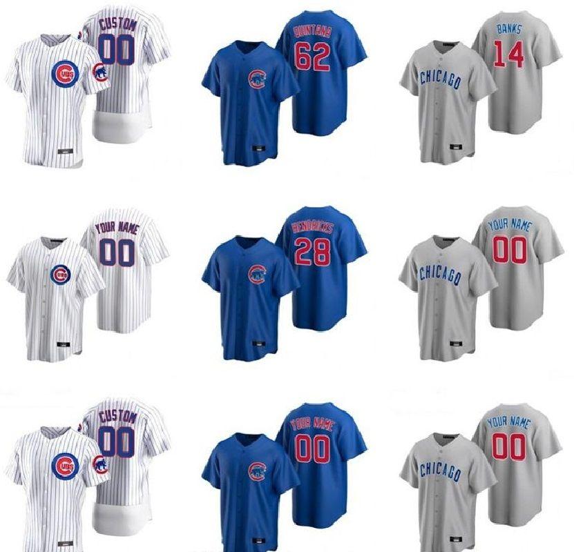 새로운 2020 팀 야구 17 Kris Bryant Jerseys 9 Javier Baez 44 Anthony Rizzo 12 Kyle Schwarber 22 Jason Heyward 14 Ernie Banks