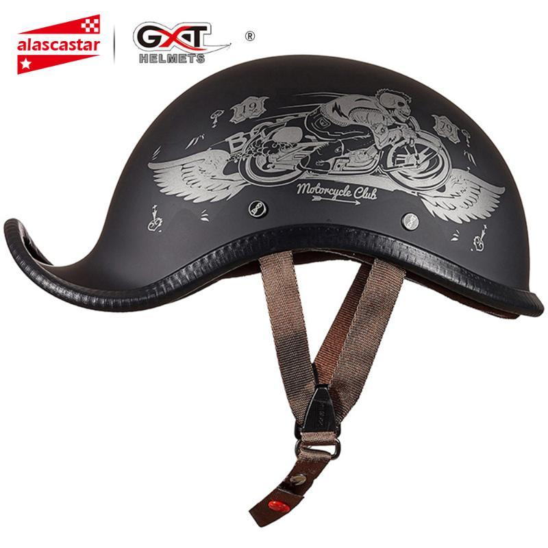 GXT Helmet Motorcycle Vintage Retro Scooter Half Helmet Casco Moto Moto Capacete Motorbike Riding Casque HOT