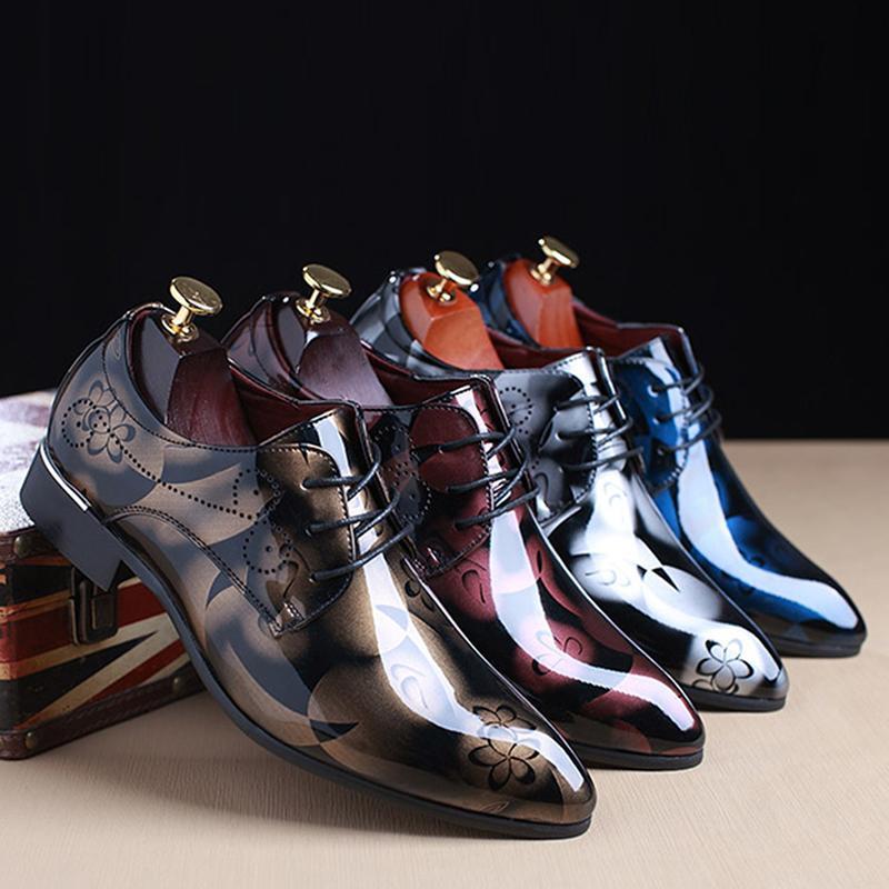 Männer kleiden Schuhe Naturleder Luxus Breathable Mode Bräutigam Brautschuhe Männer Oxford Business-Schuhe plus Größe 38-50