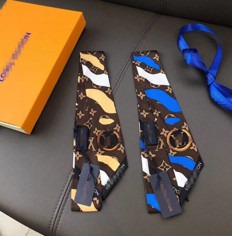 2020 Top nouvelle bande de cheveux foulard de soie design de la marque de mode super doux ruban de soie de haut niveau bandeau arc Louis Vuitton sangle de sac à main de cravate