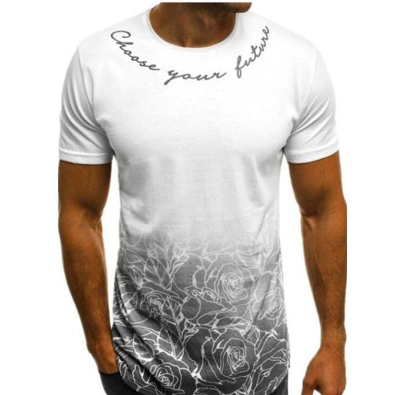 MarchWind Marken-Designer-Mode Sommer Tops Herren Kurzarm T-Shirt neue Art und Weise Sport Fitness Tarnung Mode für Männer Tops