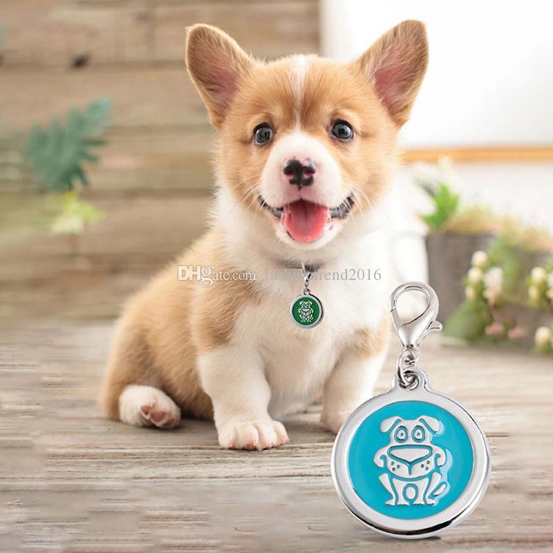 Gatito del perrito Pet ID Tag Nombre del gato del perro personalizada personalizado / Teléfono collar Tag pendiente de los accesorios
