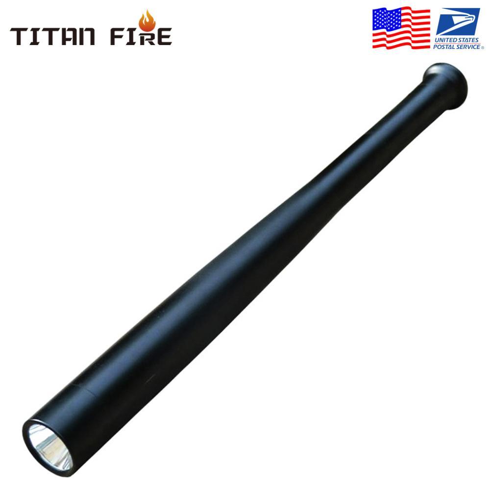 الدفاع عن النفس LED مصباح يدوي T6 قابلة للشحن متعدد الوظائف الأمن الصولجان الصلب يده مضرب بيسبول الشعلة الخفيفة لحالات الطوارئ