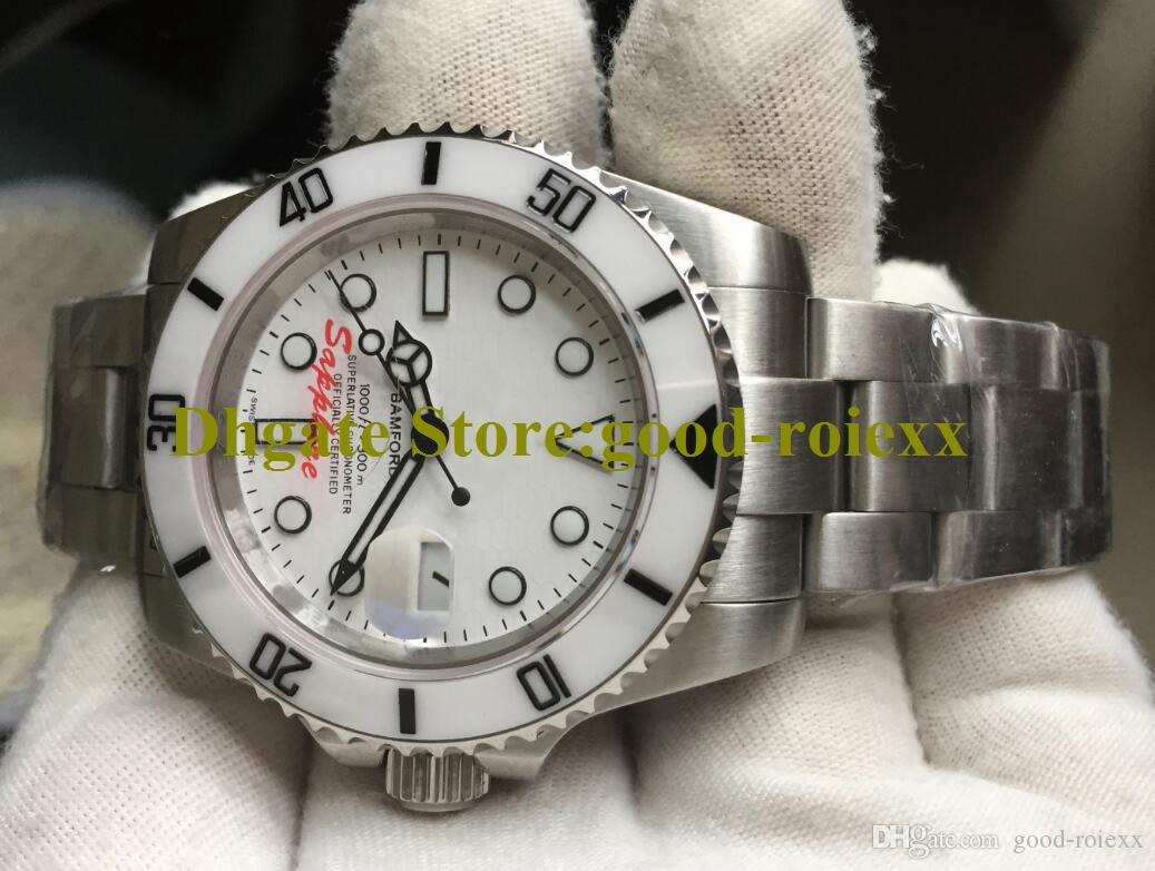 Men For Automatic Mens Watches Sport Crystal Bezel Ceramic Sapphire Bamford Watch 114060 Sub Date White Perpetual Dive Crown Wristwatch Obdi