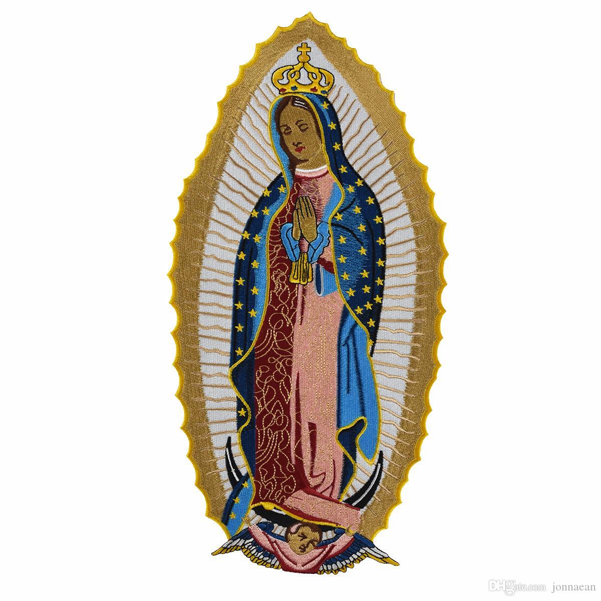 Sainte Vierge Marie Patch Brodé Grande Taille Personnalisé Coudre Sur Fer Sur Pour T-shirt Veste Vêtement Vêtement Applique