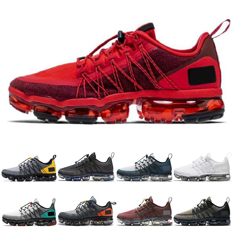 vapormax run utility Классический бег Утилита Мужчины Женщины кроссовки тройной черный Urban Bounce BURGUNDY CRUSH красные мужские кроссовки дышащие спортивные  36-45
